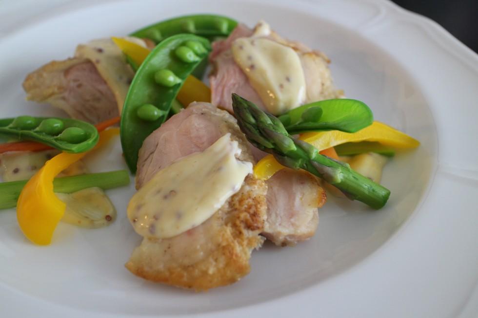 鶏肉マスタードソース
